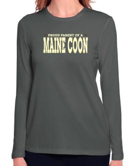 PROUD PARENT OF A Maine Coon Long Sleeve T-Shirt-Womens