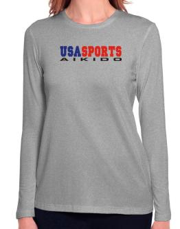 Usa Sports Aikido Long Sleeve T-Shirt-Womens