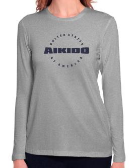 Usa Aikido / America Athl Dept Long Sleeve T-Shirt-Womens