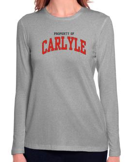 Property Of Carlyle Long Sleeve T-Shirt-Womens