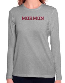 Mormon - Simple Athletic Long Sleeve T-Shirt-Womens