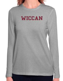 Wiccan - Simple Athletic Long Sleeve T-Shirt-Womens