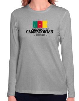Property of Cameroonian Nation Long Sleeve T-Shirt-Womens