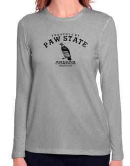 Property by paw state Andean Condor Long Sleeve T-Shirt-Womens