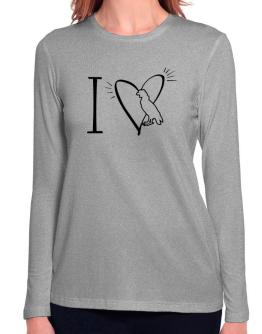 I love Andean Condor Long Sleeve T-Shirt-Womens