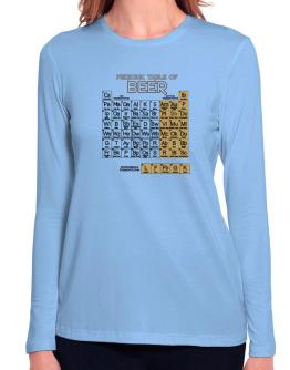 Periodic Table of Beer Long Sleeve T-Shirt-Womens