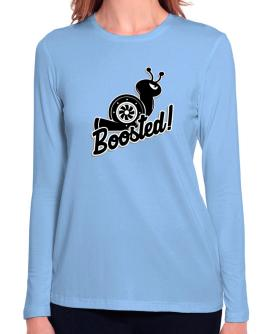 Boosted turbo snail Long Sleeve T-Shirt-Womens