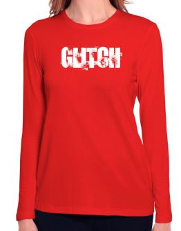 Glitch - Simple Long Sleeve T-Shirt-Womens
