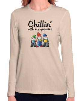 Chillin With my gnomies Long Sleeve T-Shirt-Womens