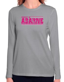 Property Of Abarne - Vintage Long Sleeve T-Shirt-Womens
