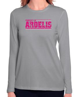 Property Of Ardelis - Vintage Long Sleeve T-Shirt-Womens