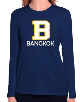 """ Bangkok - Initial "" Long Sleeve T-Shirt-Womens"