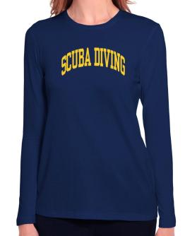 Scuba Diving Athletic Dept Long Sleeve T-Shirt-Womens