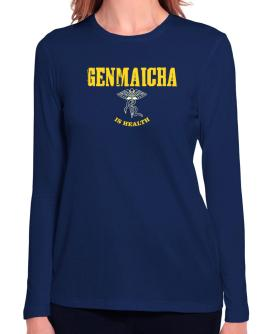 Genmaicha Is Health Long Sleeve T-Shirt-Womens