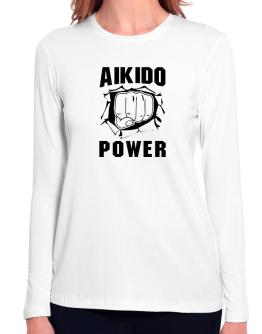 Aikido Power Long Sleeve T-Shirt-Womens