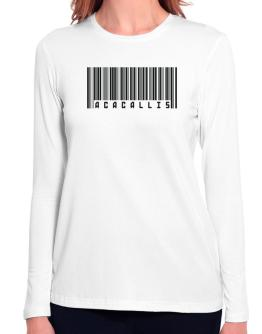Bar Code Acacallis Long Sleeve T-Shirt-Womens