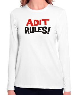 Adit Rules! Long Sleeve T-Shirt-Womens