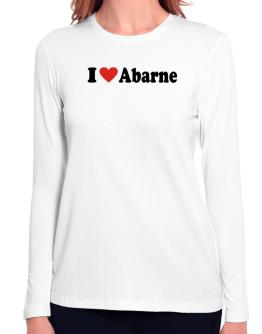 I Love Abarne Long Sleeve T-Shirt-Womens