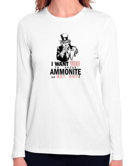I Want You To Speak Ammonite Or Get Out! Long Sleeve T-Shirt-Womens