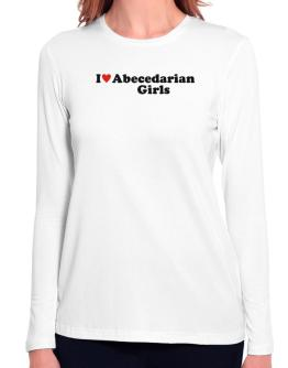 I Love Abecedarian Girls Long Sleeve T-Shirt-Womens