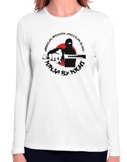 American Mission Anglican By Day, Ninja By Night Long Sleeve T-Shirt-Womens