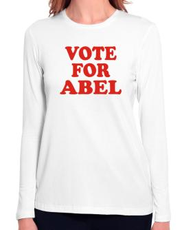Vote For Abel Long Sleeve T-Shirt-Womens