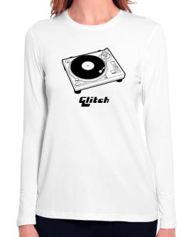 Retro Glitch - Music Long Sleeve T-Shirt-Womens
