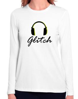 Listen Glitch Long Sleeve T-Shirt-Womens
