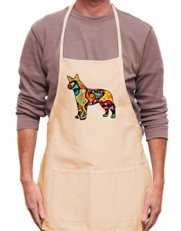 Psychedelic Australian Cattle Dog Apron