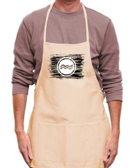 Aquarius flag scratched Apron
