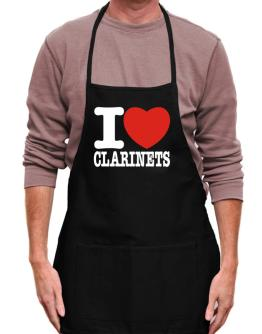 I Love Clarinets Apron
