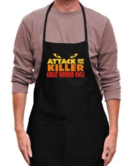 Attack Of The Killer Great Horned Owls Apron