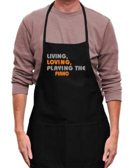 Living Loving Playing The Piano Apron