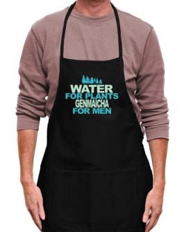 Water For Plants, Genmaicha For Men Apron