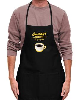 Instant Hand Engraver, just add coffee Apron