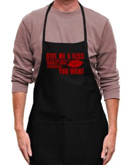 Give Me A Kiss And I Will Teach You All The Quebec Sign Language You Want Apron