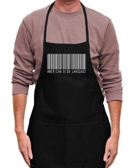 American Sign Language Barcode Apron