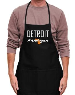 """ Detroit - State Map "" Apron"