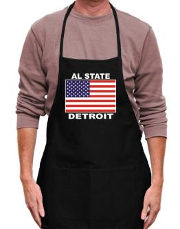 """ Detroit - US Flag "" Apron"