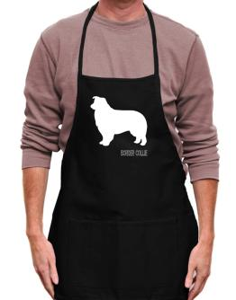 Border Collie Stencil / Chees Apron