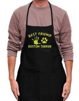 My Best Friend Is My Boston Terrier Apron