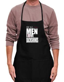 Real Men Love Dachshunds Apron