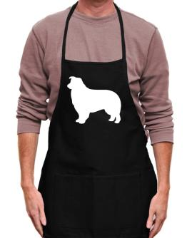 Border Collie Silhouette Embroidery Apron