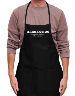 Aerobatics Where The Weak Are Killed And Eaten Apron