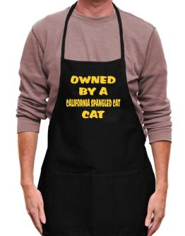 Owned By S California Spangled Cat Apron