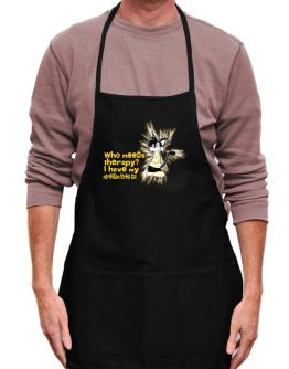 Who Needs Therapy? I Have My Norwegian Forest Cat Apron