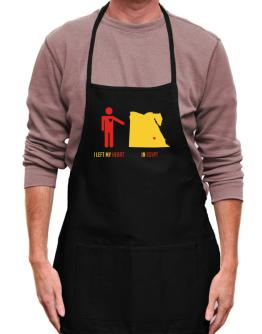 I Left My Heart In Egypt - Map Apron