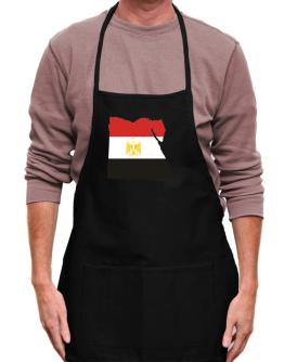 Egypt - Country Map Color Apron