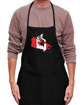 Canada - Country Map Color Apron