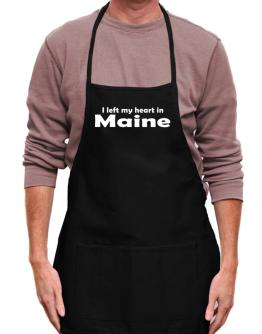 I Left My Heart In Maine Apron
